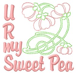 You Are Sweet Pea embroidery design