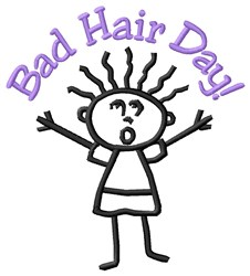 Bad Hair embroidery design