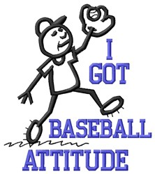 Baseball Attitude embroidery design