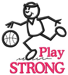 Play Strong embroidery design