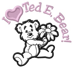 Love Teddy embroidery design