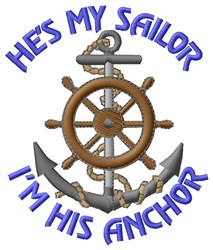 Sailor And Anchor embroidery design