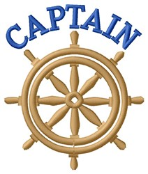 Captian embroidery design