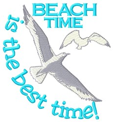 Beach Time embroidery design