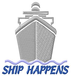 Ship Happens embroidery design