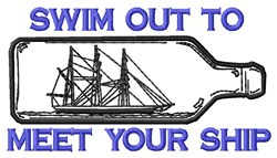 Swim Out embroidery design