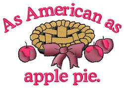 American As Apple Pie embroidery design