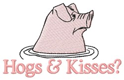 Hogs And Kisses embroidery design