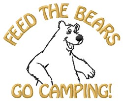 Go Camping embroidery design