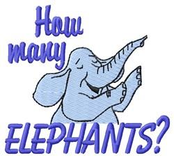 How Many Elephants embroidery design