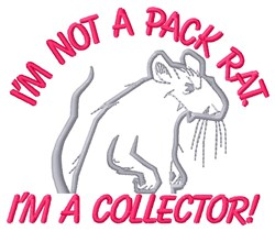 Not Pack Rat embroidery design