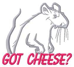 Got Cheese embroidery design