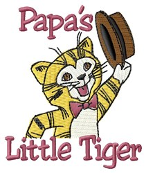 Papa's Little Tiger embroidery design