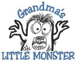 Grandmas Little Monstar embroidery design