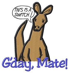 Gday Mate embroidery design