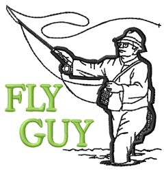 Fly Guy embroidery design