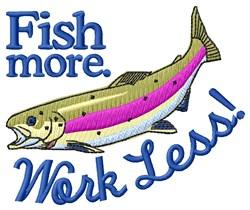 Fish More embroidery design