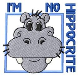 Hippo-Crite embroidery design
