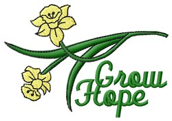 Grow Hope embroidery design
