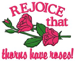 Thorns have Roses embroidery design