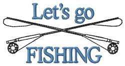 Lets Go Fishing embroidery design
