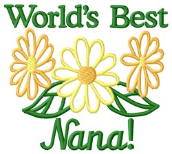Worlds Best Nana embroidery design