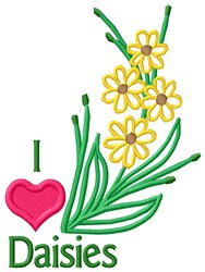 I Love Flowers embroidery design