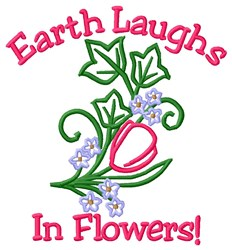 Laughs In Flowers embroidery design