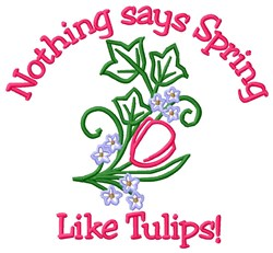 Spring Like Tulips embroidery design