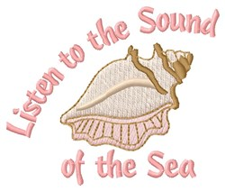 Listen Sound embroidery design