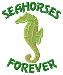 Seahorses Forever embroidery design
