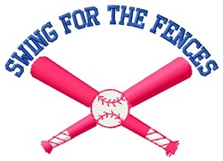 Swing For The Fences embroidery design