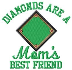 Diamonds Moms Best Friend embroidery design