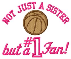 Basketball Sister Fan embroidery design