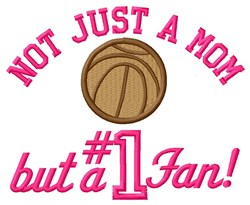 Basketball Mom Fan embroidery design