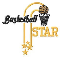 Basketball Star embroidery design