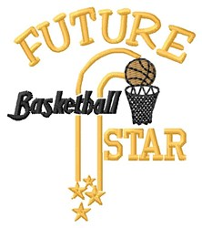 Future Basketball Star embroidery design