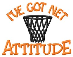 Basketball Net Attitude embroidery design