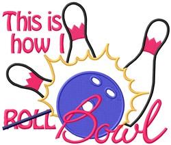 How I Bowl embroidery design