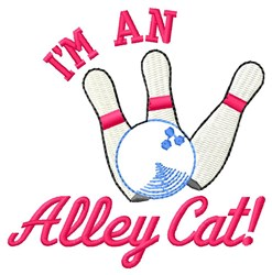 Im An Alley Cat embroidery design