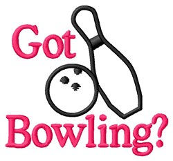 Got Bowling? embroidery design