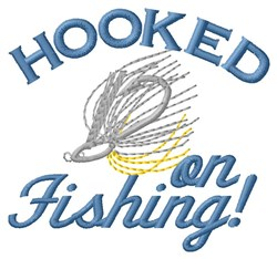 Hooked On Fishing! embroidery design