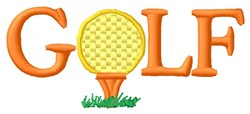 Yellow Golf Ball embroidery design
