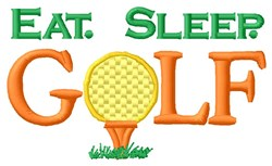 Eat. Sleep. Golf embroidery design