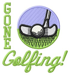 Gone Golfing! embroidery design