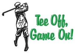 Tee Off, Game On! embroidery design
