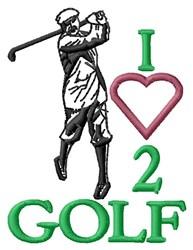 Love 2 Golf embroidery design