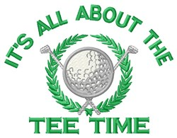 All About Tee Time embroidery design