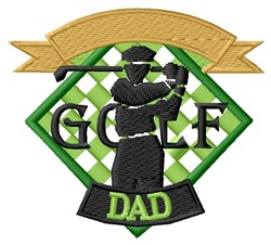 Golf Dad embroidery design