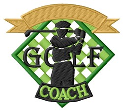 Golf Coach embroidery design